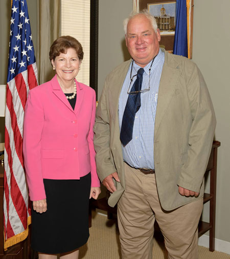 Eric Orff and Senator Shaheen in DC