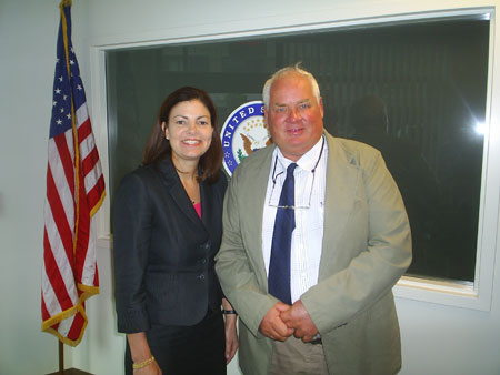 Eric Orff and Senator Ayotte in Manchester